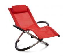 Blumfeldt Chilly Willy hamaca para niños tumbona silla de jardín textil roja (HMD1-Chilly-Willy-R)