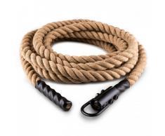 Capital Sports Power Rope Cuerda para impulsar 15m 3,8cm Cáñamo Gancho de techo (FIT13-Monster Rope H)