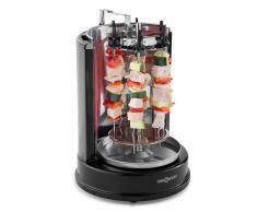 OneConcept Twist & Grill Parrilla vertical Asador kebab Rosticería 1400 W Acero inoxidable (RAC3-Twist-&-Grill)