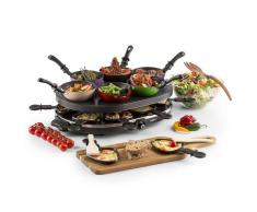 OneConcept Woklette Parrilla raclette wokset de mesa 1200 W 6 personas Antiadher (GQ19-Woklette)