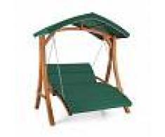 Blumfeldt Aruba Columpio de jardín Hollywood de madera maciza 130 cm 2 asientos (GDW1-Aruba)