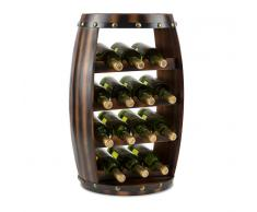 Klarstein Barrica Botellero de madera estantería para vinos de 14 botellas mader (WHR-Barrica-14)