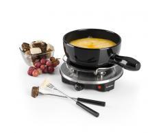 Klarstein Sirloin Raclette con fondue Olla de cerámica 1200W negro (GQ6-Sirloin)