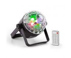 Beamz PLS35 DJ Jellyball Bola de iluminación de discoteca 4 x 3W LEDs de color rojo, verde, azul y UV DMX/Autónomo (Sky-153.258)