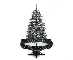 OneConcept Everwhite Árbol de Navidad con sistema de nevado 180cm LED Música Adornos (LEL2-Everwhite-BK)