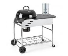 Klarstein Meatpacker Set XXL parrilla leña carbón BBQ ahumador + encendido eléctrico (PL-Meatpacker-Set)