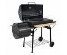 Royal Food Barbacoa de carbón CB 700-2 con parrilla de acero - ahumador - Superficie de cocción 67x43 cm
