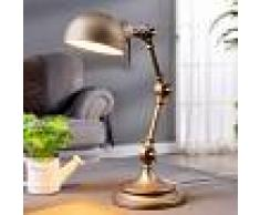 LAMPENWELT.COM Lámpara de escritorio Ellisen color bronce