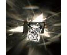 SWAROVSKI Foco empotrable de techo Octa con cristal octaedro