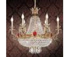 RIPERLAMP Lámpara de araña de cristal Ágata, 11 brazos