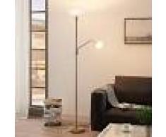 LAMPENWELT.COM Lámpara LED de pie Jost + lámp. lectura latón mate