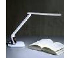LAMPENWELT.COM Lámpara escritorio LED muy moderna Eleni, blanca