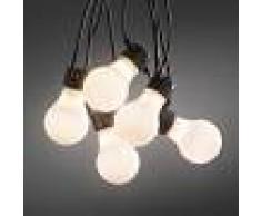 KONSTSMIDE Cadena luminosa de 20 bombillas LED opal, exterior