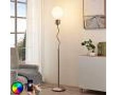 LAMPENWELT.COM Mena - lámpara de pie LED RGB, controlable vía app