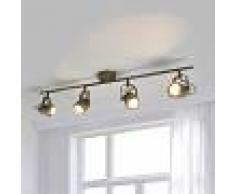LAMPENWELT.COM Foco empotrado LED de techo Leonor envejecido