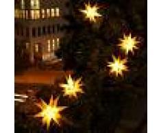 DECO PLANT Guirnalda LED 9 estrellas amarillas - exterior