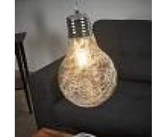 LAMPENWELT.COM Lámpara colgante Rubi, bombilla incandescente