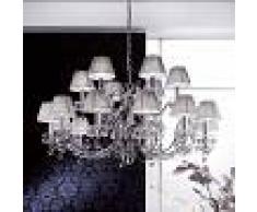 Orion Lámpara de araña Diseño de cristal cromo 18 brazos