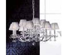 Orion Lámpara araña Diseño de cristal pantallas textiles