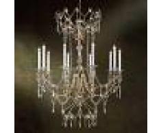 Orion Lámpara de araña KATHARINA con cristales, 110 cm