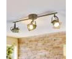 LAMPENWELT.COM Foco empotrado LED de techo Janek 3 bombillas