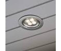KONSTSMIDE Lámpara empotrada de techo con LED de encendido