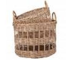 Maisons du Monde 2 cestas caladas de ratán