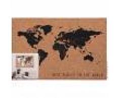 Maisons du Monde Tablón mapamundi de corcho marrón y negro 60x40