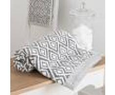 Maisons du Monde Toalla de tocador de algodón blanco con motivos grises 30x50 cm GRAPHIC WILD