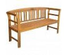 vidaXL Banco de jardín de madera maciza de acacia 157x45x82,5 cm