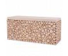 vidaXL Banco de madera auténtica 100x34x41 cm
