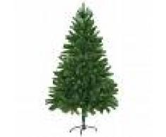 vidaXL Árbol artificial de Navidad con hojas realistas 210 cm verde