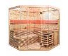 Home Deluxe SKYLINE XL BIG Sauna tradicional con paredes de piedra reconstruida