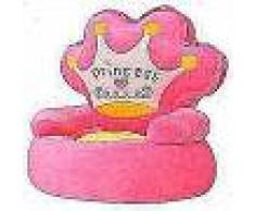 VidaXL Silla de peluche para niños princesa rosa