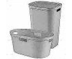 Curver Cesto de ropa sucia y de colada Infinity gris 100L 240730