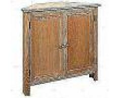 VidaXL Armario de esquina de roble 80x33,5x78 cm