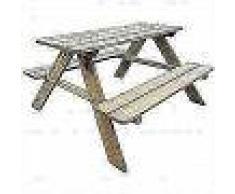 VidaXL Mesa de picnic para niños 89x89,6x50,8 cm madera de pino FSC