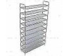 VidaXL Zapatero con 10 estantes de metal y textil no tejido plateado