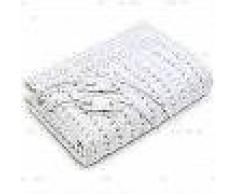 WellCare Manta eléctrica baja lana suave blanca 160x150 cm 79503.01