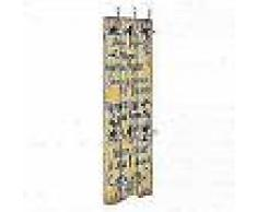 VidaXL Perchero de pared FAMILY con 6 ganchos 120x40 cm