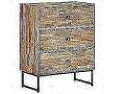 VidaXL Aparador de madera de teca reciclada 60x30x75 cm
