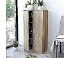 VidaXL Mueble zapatero con 7 estantes de roble
