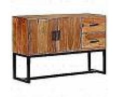 VidaXL Aparador de madera de acacia maciza marrón 115x30x70 cm