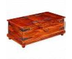 VidaXL Baúl de almacenamiento madera maciza de sheesham 90x50x35 cm