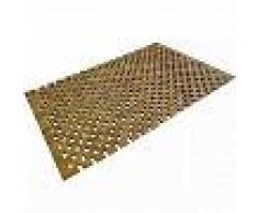 VidaXL Alfombrilla de baño de madera de acacia mosaico 80x50 cm