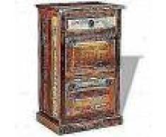 VidaXL Zapatero de 4 estantes con cajón madera maciza reciclada