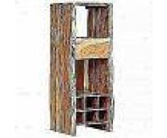 VidaXL Botellero madera acacia maciza borde irregular 40x40x110 cm