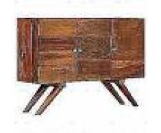 VidaXL Aparador de madera maciza reciclada marrón 110x30x75 cm