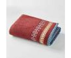 LA REDOUTE INTERIEURS Toalla de baño 100% algodón EVORA NARANJA