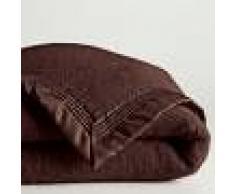 LA REDOUTE INTERIEURS Manta de pura lana virgen Woolmark 350 g/m² MARRON